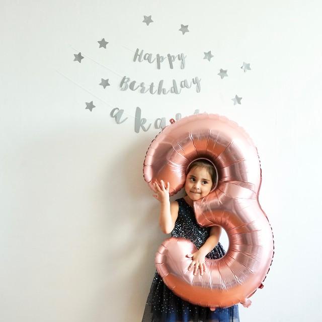 BIGサイズ ナンバーバルーン 誕生日 飾り付け 風船
