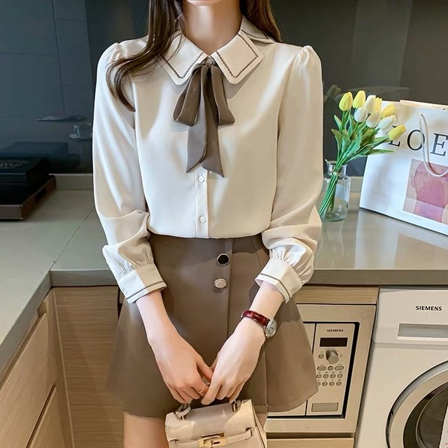 square neck brown shirt