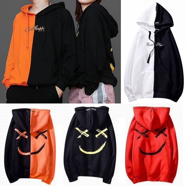 パーカー セパレート スマイル ストリート系 / 18ss printed smiley hoodie loose tied brand men and women (DCT-575209113915)