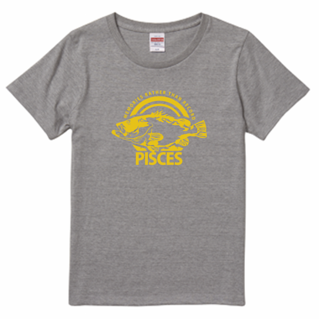 PISCES Tee:Gray(SUN/Longtooth grouper/レディース)