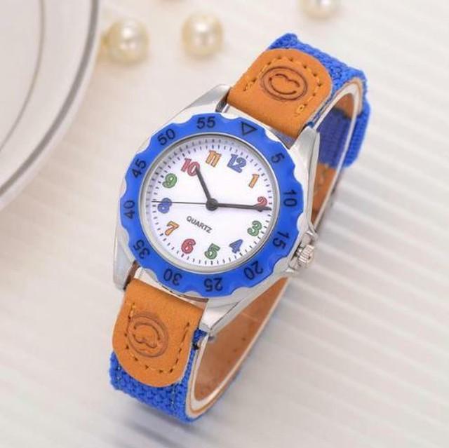 カラフルストラップ 腕時計 ブルー 青 アラビア数字 キッズ レディース スポーツ クォーツ時計 Scarecrow-87-blue