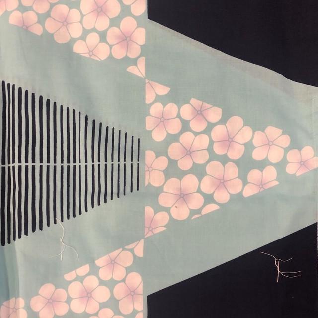 浴衣 レディース 単品 キスミス ブランド <黒×水色> Yukata
