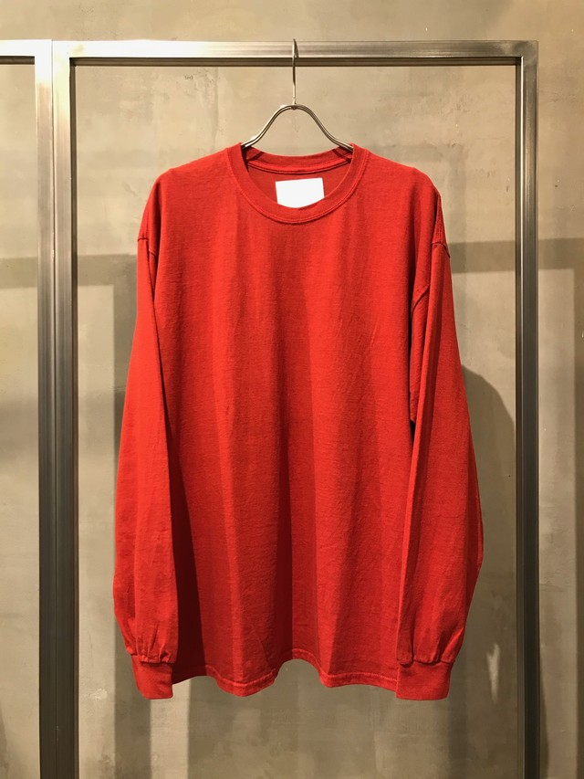 TrAnsference loose fit long sleeve T-shirt - red(dull)