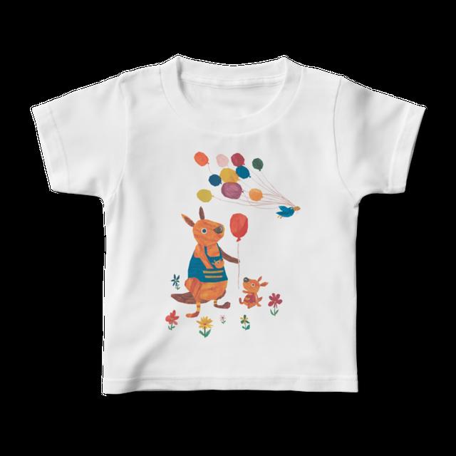 前面プリントイラストキッズTシャツ 『風船ちょうだい』