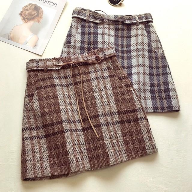 チェック柄 秋冬コーデ OL 通勤スカート 2カラー RPSK102207