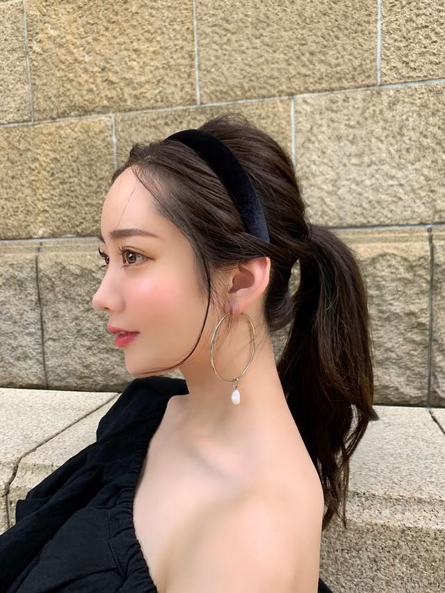 【予約】velour headband / black 7/2 21:00 ~ 再販 (8月上旬発送予定)