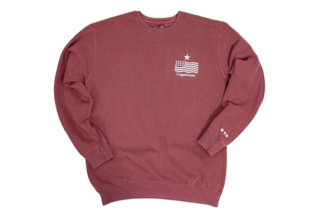 "【""USA"" vintage star logo sweat】/ red"