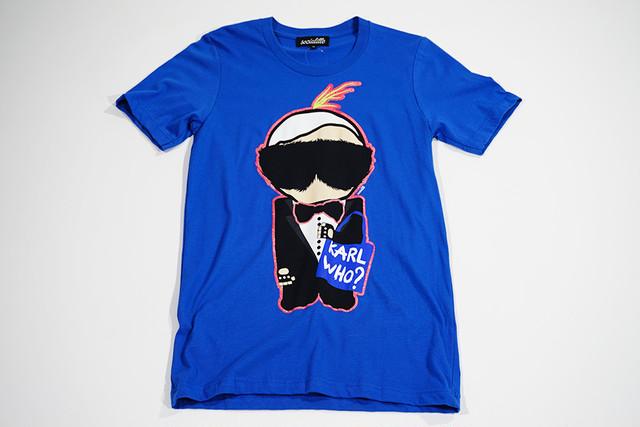 【Socialitte】KARL WHO NEONTシャツ【ブルー】