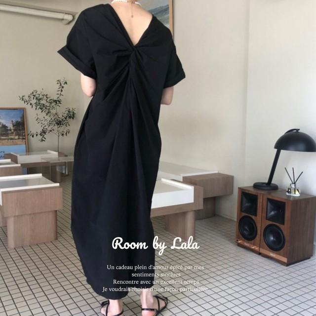 【即納】30%OFF  Twisted dress / ワンピース (black) LE202197
