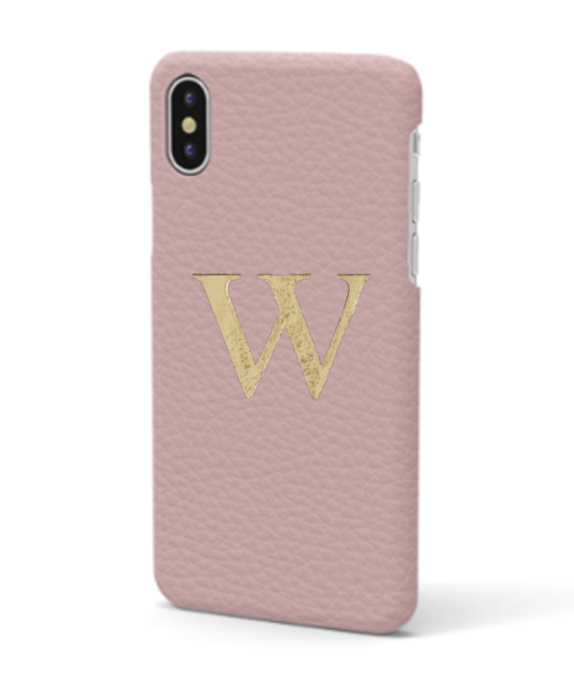 iPhone Xs MAX Premer Shrink Leather Case (Blush Pink)