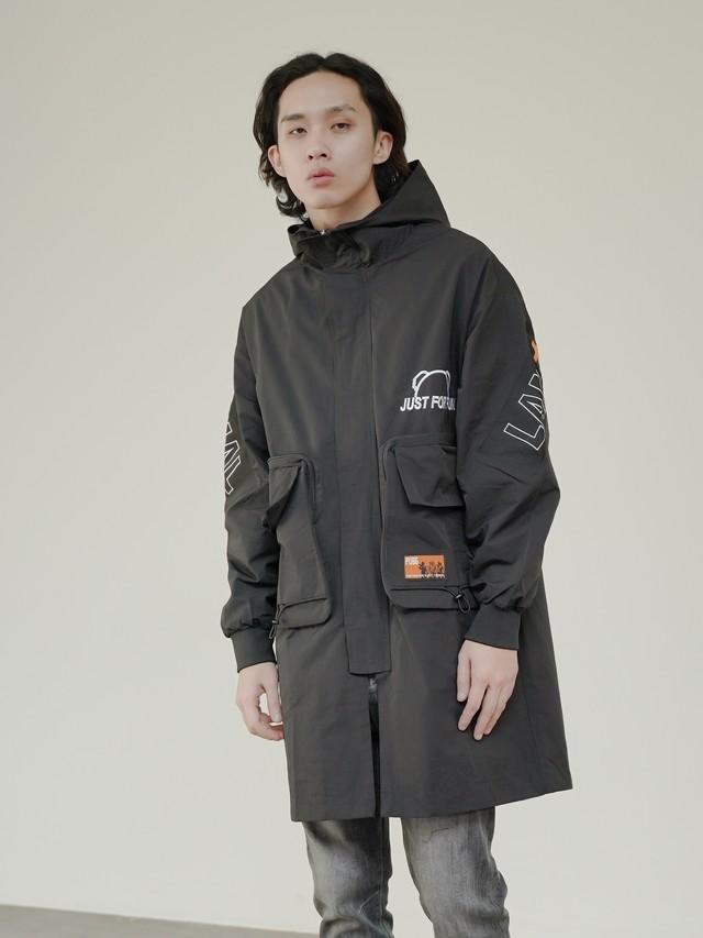 【即日出荷】ロゴ入りナイロンジャケット コート アウター シンプル ストリート メンズ