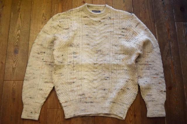USED 美品 USA製 ペンドルトン ミックスウールセーター L  70s