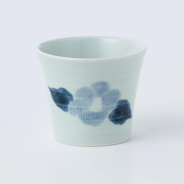 片岡鶴太郎オリジナル椿絵カップ(呉須)