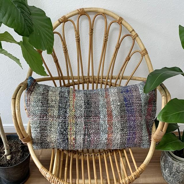 手織り キリム クッション 長方形ロング C055