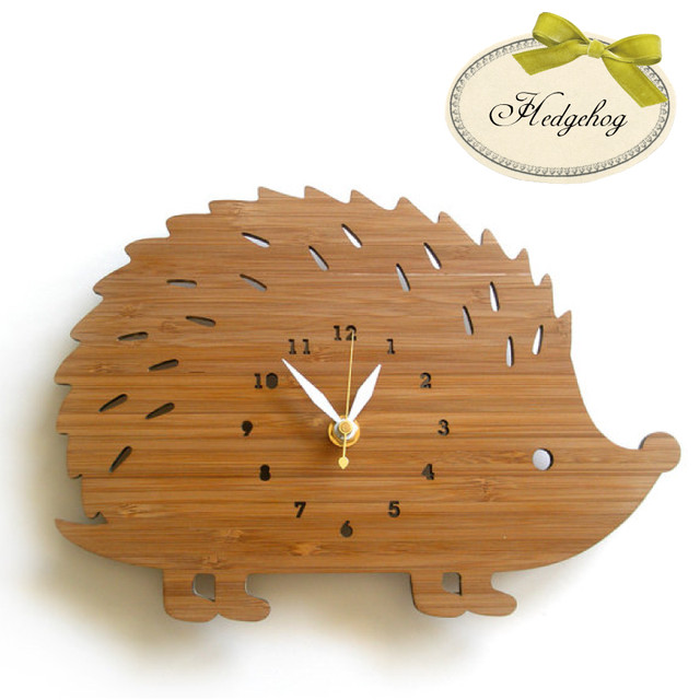 Decoylab ハンドメイド Hedgehog 掛け時計 はりねずみ