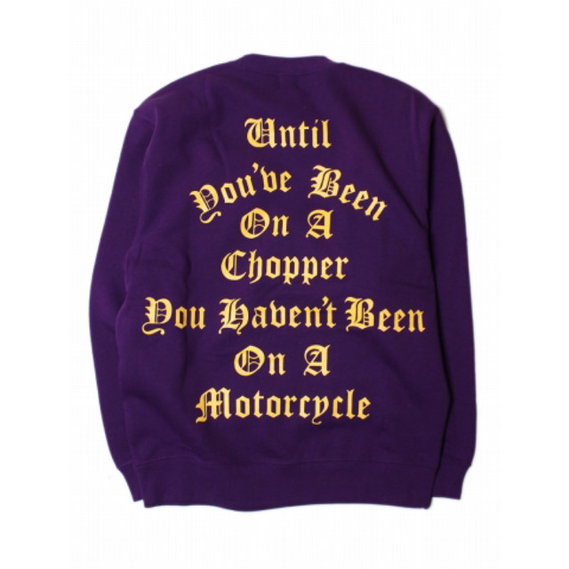 RUTHLESS #On A Chopper Crew Neck purple