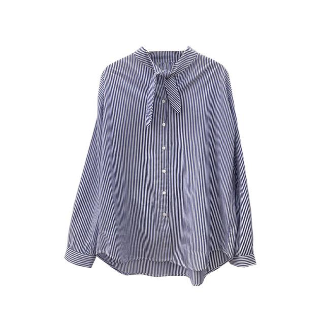 コットンスカーフカラーシャツ 2 colors
