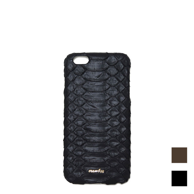 【iPhone6/6sPlus用】本パイソン革iPhoneケース  Python iPhone case