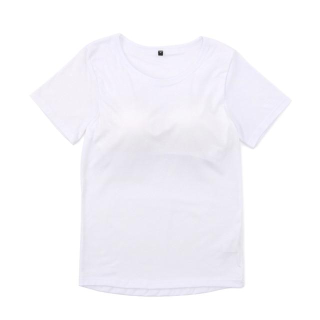 カップ付き半袖Tシャツ  (白) 3130006