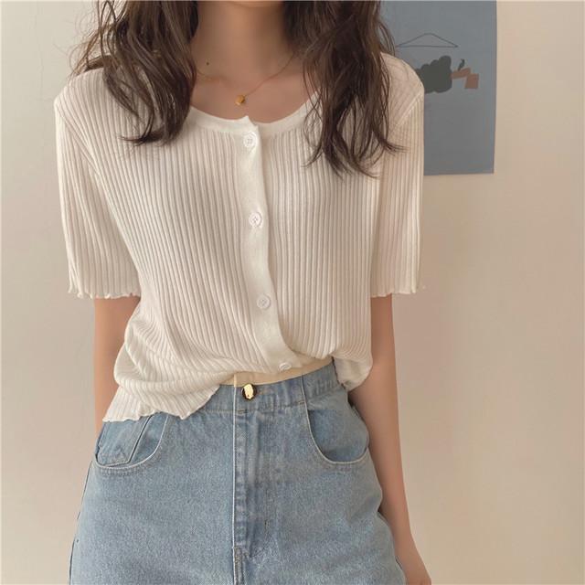 薄手ニットセーター【thin knit sweater】