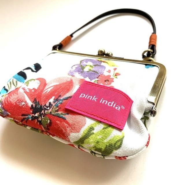 北欧デザイン 持ち手付手提げがまぐち財布 | stella