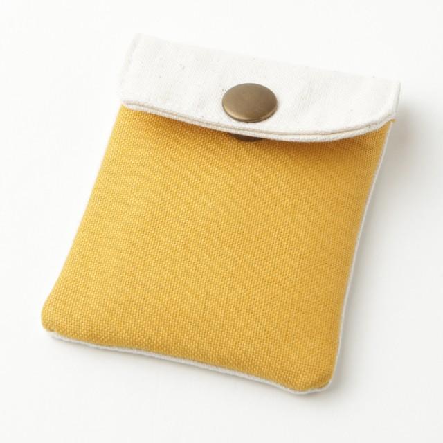 携帯灰皿 おしゃれ かわいい 帆布 ハンプ マスタード 48183 熟練職人のハンドメイド インナーリフィル合計2個付属 日本製