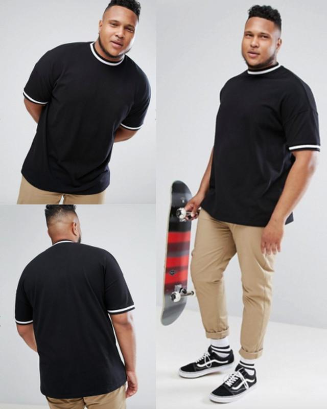 ビッグサイズ スケーターTシャツ(ブラック)2XL