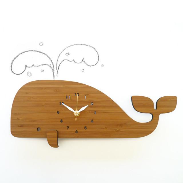 WHALE クジラの掛け時計