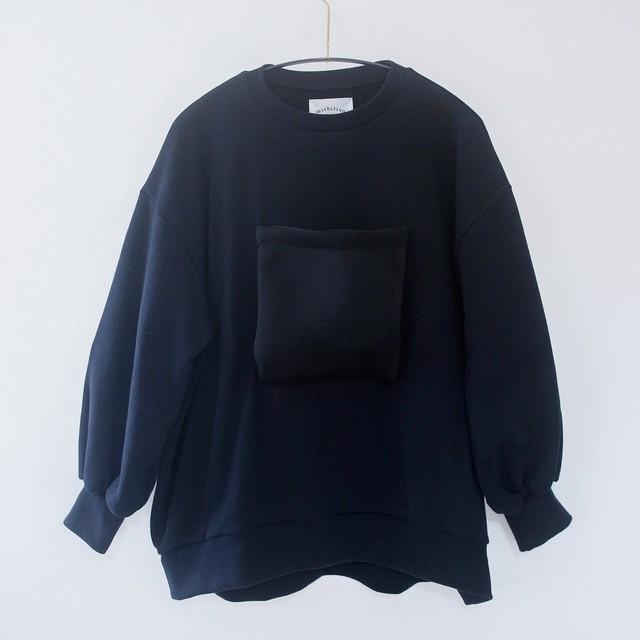 《michirico 2020AW》Front pocket sweats / black / F(大人)