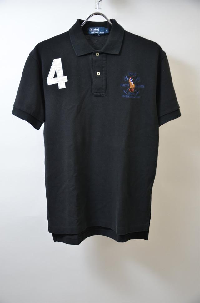 【Sサイズ】 RL ラルフローレン RLPC NUMBERING POLO SHIRT ナンバリング ポロシャツ BLACK ブラック 400603190605