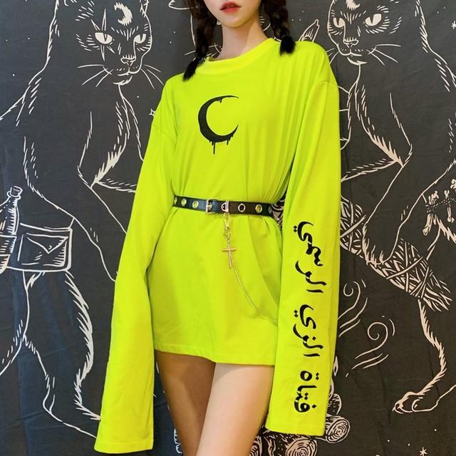 月刺繍ネオンシャツ / HWG340