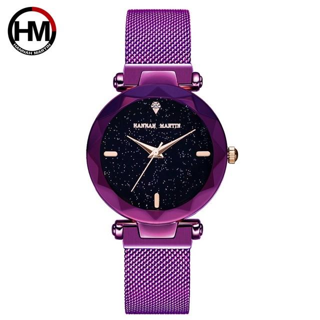 2020新ブランド日本女性ファッションエレガントマグネットバックルビブラート腕時計ゴールド防水レディースウォッチD3-WZ