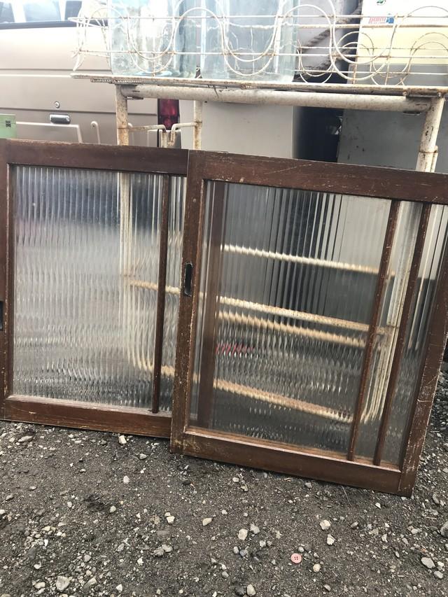 レトロ モールガラスの窓枠