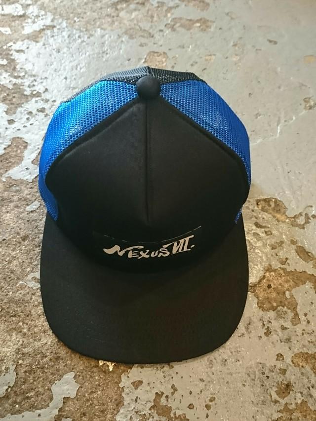 """NEXUS Ⅶ """"MESH CAP"""" Black × Blue"""
