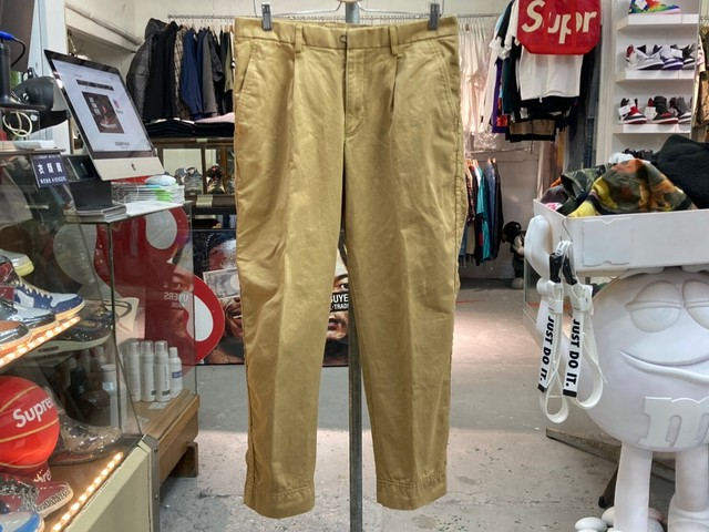 kolor / BEACON 20SS Garment Dyed Chino Cloth Puckering Tapered Pants 3 BEIGE 50JL1727