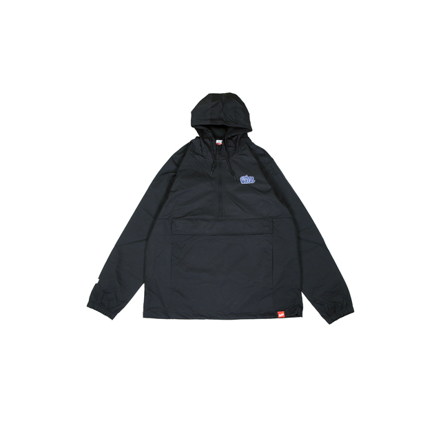 BLAZZ by IRA Water Resistant Windbreaker Anorak [BLACK]