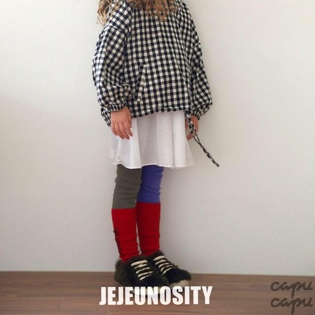 «即納»«ジュニアサイズあり» jejeunosity leggings 2colors アシンメトリーレギンス