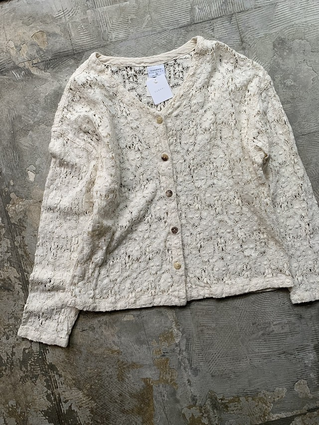 made in usa vintage cotton lace cardigan