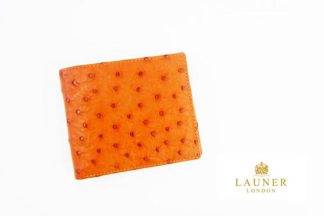 ロウナー ロンドン LAUNER LONDON 折財布 札入れ 805 オーストリッチ