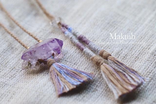 [Veracruz Amethyst] with [Cotton strings]Pendant