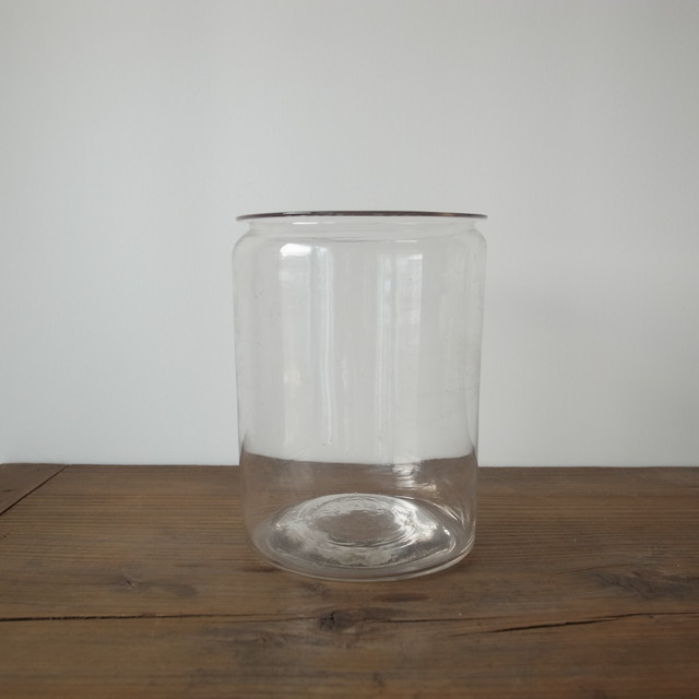 Clear glass jar