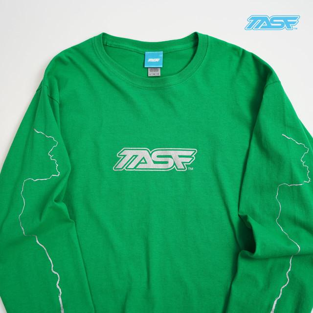 TASF  /   L/S Tee  / YodoRiver  /  Green×Silver