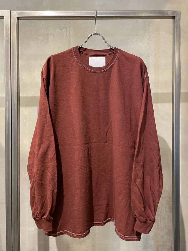 TrAnsference loose fit long sleeve T-shirt - dark red