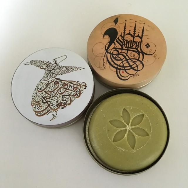 トルコ雑貨   ザボン缶  Sサイズ  イスラミックシリーズ