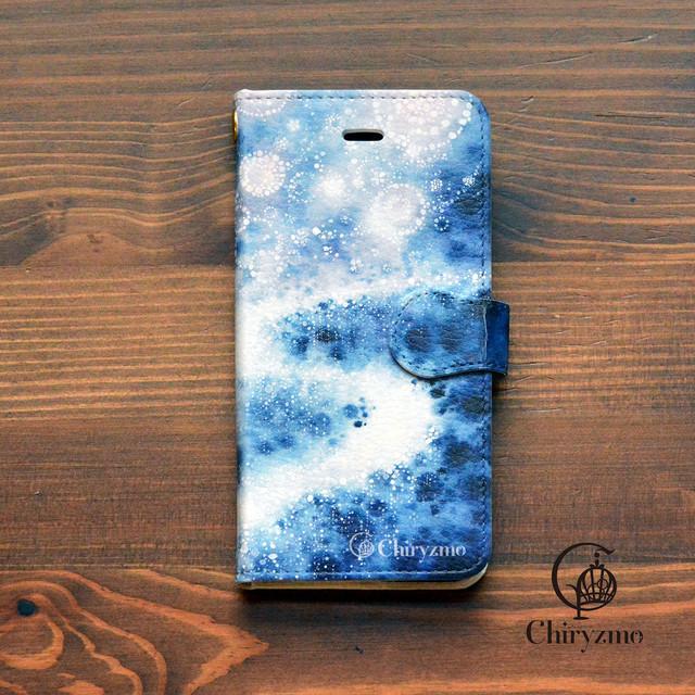 桜 スマホケース 手帳型 桜柄 iphone ケース 桜 アイフォン7 ケース 桜 iphone 6s ケース 桜 明日は桜の星が降る/Chiryzmo