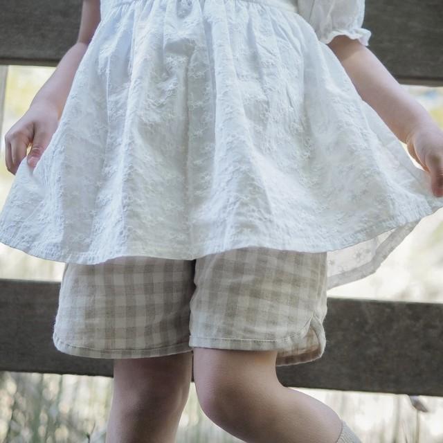 【summer sale】aosta.リネンショートパンツ[70-110]即納