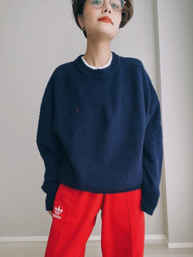 (KN178)Polo Ralph Lauren wool knit (navy)