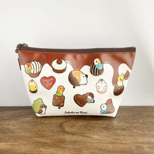 ◆とろ〜りチョコとインコマチ付きポーチ♪