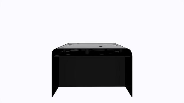 ターブル・ペルフォレ (黒) - Table Perforée (Black)--Width 1200mm