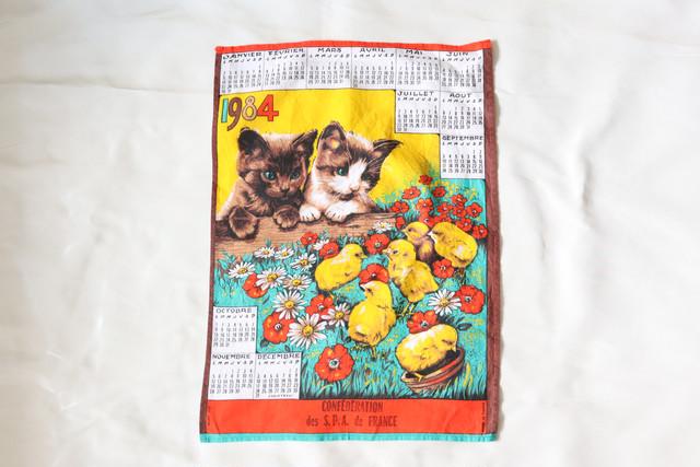 【フランス】2匹の猫のカレンダー / 1984年